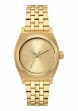 Nixon Medium Time Teller A1130-502 Gold Stainless Steel Quartz Womens Watch