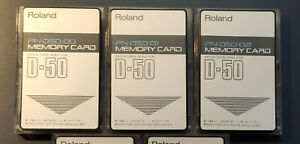 Roland D-50 3 ROM Memorycards PN00-02 Big SET sound collection for D-550