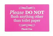 Elegante Autoadesivo Segno rosa, placca per WC, bagno, W.C, fossa biologica