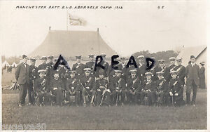 Offiziere Manchester Bataillon Boys Life Brigade Abergele Camp 1913