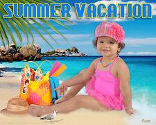 C7 Summer Vacation Digital Backgrounds Backdrops Photo Children Beach