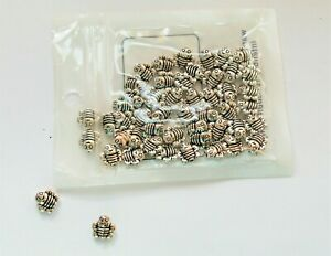 50 + Cute Silver Bee Spacer beads, approx 10 mm,  for Craft & Jewellery