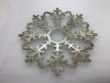 Leonard Silver plate Snowflake Trivet Italian Collectible Christmas Kitchenware