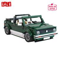 Building Blocks Set for 10242 VW Golf MK1 Cabriolet Car Model Bricks Toys Kids