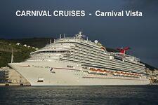 SOUVENIR FRIDGE MAGNET of CRUISE SHIP CARNIVAL VISTA - CARNIVAL CRUISES