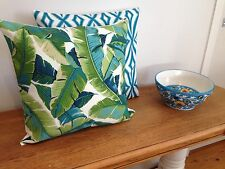 **STUNNING NEW INDOOR/OUTDOOR BANANA LEAF STYLE CUSHION COVER 45x45cm*