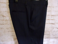 NEW MENS HAGGAR H26 STRAIGHT FIT DRESS PANTS NO IRON Comfort Fit Dark Blue28x30