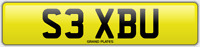 SEX SEXY NUMBER PLATE S3 XBU ALL FEES INCLUDED CAR REG ON RETENTION OR ASSIGNED