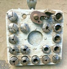 South Bend Heavy 10 Lathe 5c Collet Rack Holder With 17 Collets