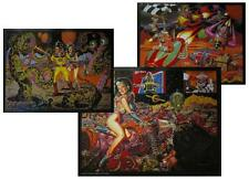 TODD SCHORR ALIENS, ROBOTS, HOT RODDERS SET OF 3 LOWBROW ART POSTERS