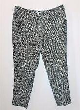 TARGET Designer Black White Monochrome Print Dress Pants Size 14 BNWT #TA09