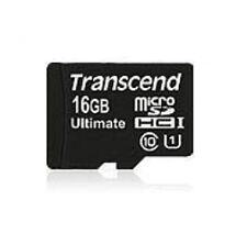 Transcend microSDHC MLC 16gb Class 10 Uhs-i 600x Sd-adapter