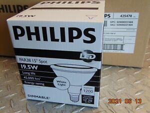 Philips 19.5w 120v PAR38 White SP15 Airflux Technology Dimmable LED Light Bulb