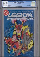 Legion of Super Heroes #1  CGC 9.8 1984 DC Comic: Silver Logo: New Frame