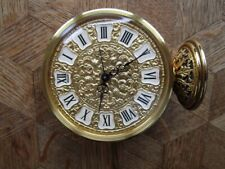 Vintage Gold plated JAEGER 8 Days Filigranes Alarm Clock / Pendulette. Ref. 78.