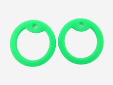 4 Light Green Silicone Military Army Dog Tag Silencers Rubber Silencer