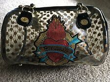 Betsey Johnson Betseyville Clear Polka Dot Barrel Purse