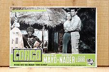 CONGO fotobusta poster Virginia Mayo George Nader Peter Lorre Giungla Tribù E78