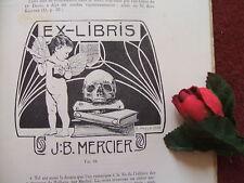 LES EX- LIBRIS DE MEDECINS ET PHARMACIENS : par : HENRY ANDRE  1908