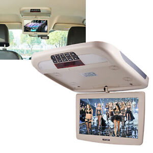 10 Inch Car Flip Down TFT LCD Monitor With MP5 Player Auto Roof Mount Monitor