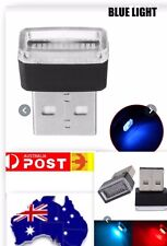 USB Mini Car Interior Night Light LED Neon Atmosphere Ambience Lamp  Frost Blue