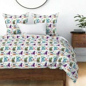 Key West Florida Snorkeling Diving Nautical Sateen Duvet Cover by Roostery