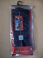 Half Chaps Riders Trend Amara Synthetic Suede Black and Pink Large New + Tags