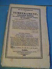 DR. DELACROIX CONNAISSANCE TEMPERAMENT ETATS SANGUINS 1829 Signé HYGIENE NERFS