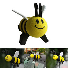 1PC Car Antenna Toppers Smiley Honey Bumble Bee Aerial Ball Decor Yellow Cute