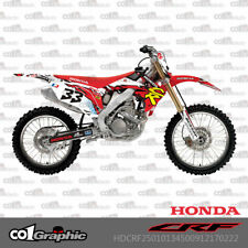 GRAPHICS DECALS STICKERS FULL KIT FOR HONDA CRF250R 2010-2013 CRF450R 2009-2012