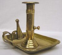 """Vintage Brass Push Up Candlestick with Snuffer 1960s  5 1/2"""" in height"""