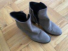 AQUATALIA GRAY SIDE ZIP ANKLE BOOTS BOOTIES ~ 7 1/2   REDUCED SALE