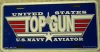 Aluminum Military License Plate Navy Top Gun Fighter Weapon School NEW Made USA