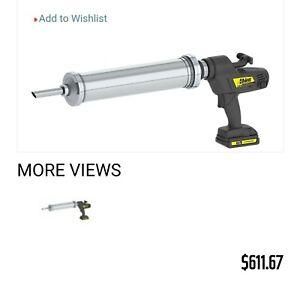 Albion 982-1 Cordless Caulk And Adhesive Gun 18 in Steel Barrel NOB