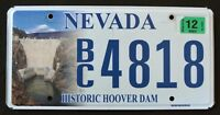"""NEVADA """" HISTORIC HOOVER DAM """" NV Specialty Graphic License Plate"""