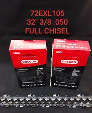 "2 Pack 32"" Oregon Husqvarna 2100 Chisel Chainsaw 72EXL105 3/8 Chain"