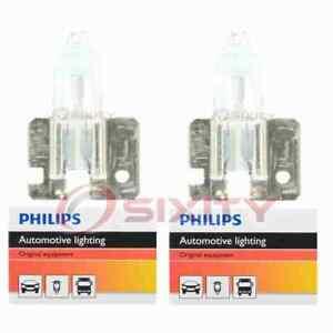 2 pc Philips Front Fog Light Bulbs for Jaguar Vanden Plas XJ12 XJ6 XJRS XJS zn