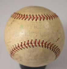 Vintage 1920s Partridge League Leather Baseball, Authentic Old