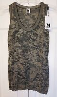 Missoni Black Gold Brown Metallic Knit Shirt Sleeveless Tank Top 42 NWT