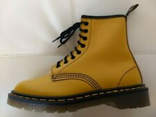 DOC DR. MARTENS YELLOW LEATHER BOOTS MADE IN ENGLAND NEW RARE VINTAGE UNISEX 5UK