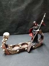 The Ferryman of Hades The Grim Reaper Boat Of Skulls Tea Light Candle Holder