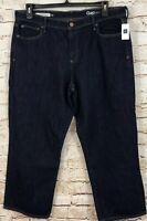 Gap womens Size 33 Jeans wide leg crop new rinse G4