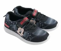 Disney Mickey Mouse Black Trainers Sneakers Boys Shoes EU Sizes
