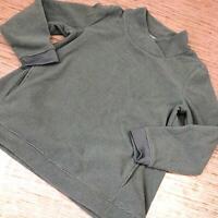 A-963 Denim & Co. Regular Chenille Fleece Tunic Crossover Neck MEADOW GREEN sz M