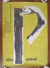 Original Vintage 1953 DAS PLAKAT Swiss Art Exhibition Travel Poster By HANS FALK