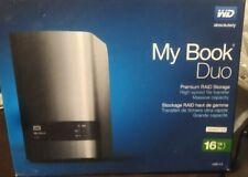 WD 16TB My Book DUO Desktop RAID USB 3.0 ENCLOSURE ONLY SATA Hard Drive Case