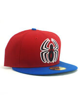 New Era Spider-Man 59fifty Custom Fitted Hat Size 7 1/8 Neon Logo Marvel Red NWT