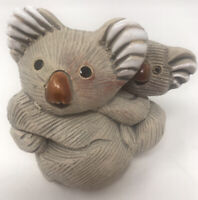 "Artesania Rinconada Clay ""Koala"" Figurine 1970's Hand Made In Uruguay"