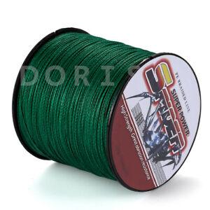Spider 100M-2000M 10LB-300LB Moss Green 100% PE Dyneema Braided Fishing line