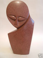 Red Argillite Stone Sculpture Figures Carving Hand Carved in Zimbabwe R#25